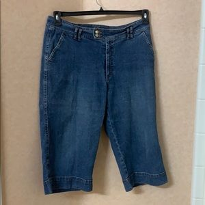 Coldwater Creek denim Capri pants, size 14